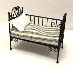 "French ""Antique"" Child's Daybed, Black"