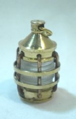 Brass Ship's Lantern with Clear Glass