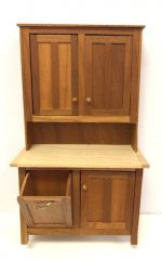 Cherry and Maple Hoosier Cupboard by Gary Elmer