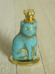 Turquoise Cat Perfume Bottle