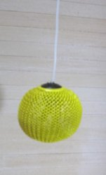 Working Modern Metal Mesh Ceiling Light, Yellow