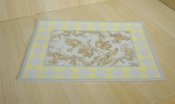 Cottage Toile Rug, Blue