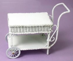 White Wicker Cart
