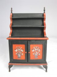 Folk Painted Cupboard