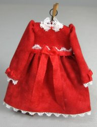 Toddler Dress, Red with Long Sleeves
