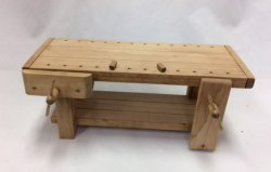 Wooden Workbench with Working Vise