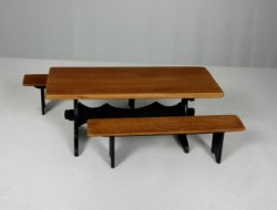 Cherry Trestle Table and Benches