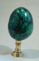 Malachite Egg on Stand