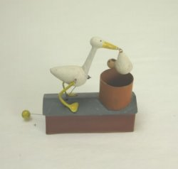 Stork Automaton Toy by St. Leger