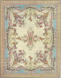 Area Rug, predominantly blue and cream