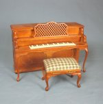 """I Love Lucy"" Piano and Bench, Walnut Finish"