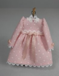 Toddler Dress, Pink with Long Sleeves