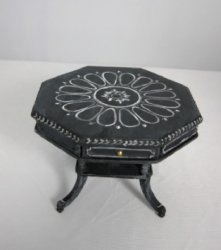 Handpainted Hexagonal Table