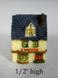 Tucker's Tiny Town Blue Roofed house