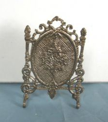 French Fireplace Screen, Antique Brass
