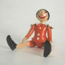 Jointed Pinocchio Dressed in Orange by Warwick Miniatures