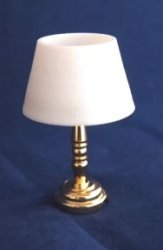 Battery Operated Brass LED Table Lamp