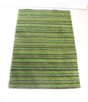 Green Striped Area Rug