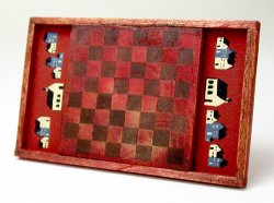 Decorative Chackerboard, Red