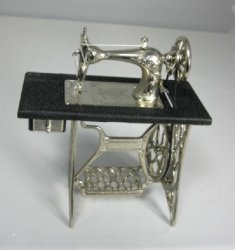 Old Fashioned Metal Sewing Machine