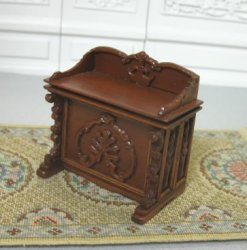 "Stunning 1/2"" Scale Carved Buffet with Secret compartment"