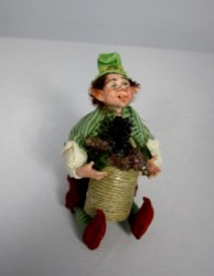 Gnomish Man with Basket of Grapes
