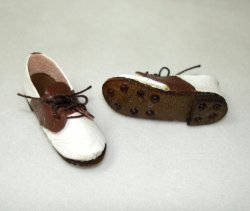 Golf Shoes, brown and white