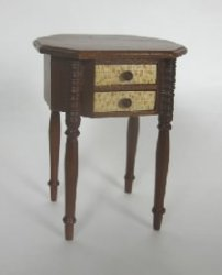 Cherry and Bird's Eye Maple Side Table by Tom Wolfert