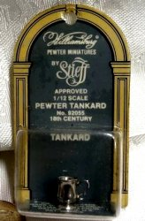 Stieff Williamsburg Pewter Tankard, NIB