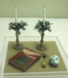 Pair of Holiday Candles with Accessories, #1