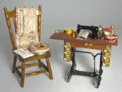 Sewing Machine and Chair, Accessorized