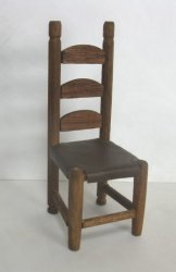 Wooden chair with Rawhide Seat