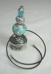 Aqua and Silver-Tone Hookah