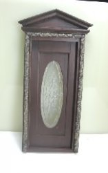 Mahogany Stained Victorian Oval Leaded Glass Door