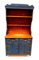 Primitive Blue Country Hutch