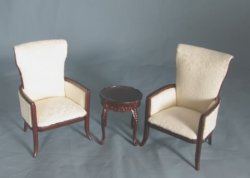 Schramsburg Armchairs and End Table