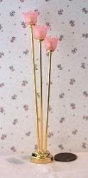 Tribeca Floor Lamp with Pink Shades