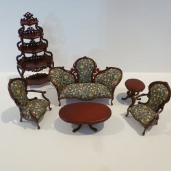 Catarina 6-Pc. Parlor Set, Mahogany