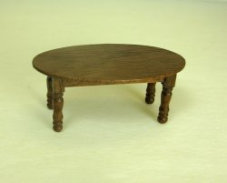 Half Inch Scale Coffee Table, Walnut
