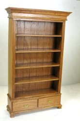 Book Shelf Unit with Drawer, Cherry