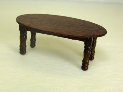 Half Inch Scale Coffee Table, Mahogany