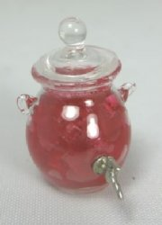 Pink Punch in Glass Jar with Spigot
