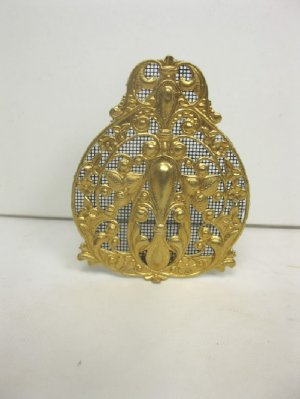 Decorative Fire Screen, Bright Brass Finish