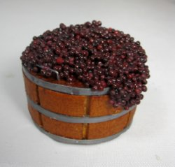 Barrel of Red Grapes by Ysinia Slater