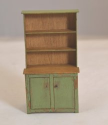 Half-Inch Scale Green Hutch signed Michelle Gill