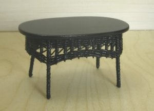 Black Wicker Coffee Table