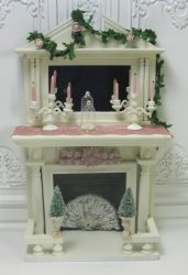 Shabby Chic Christmas Fireplace