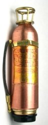 Brass and Copper Fire Extinguisher