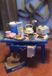 Blue Baking Table