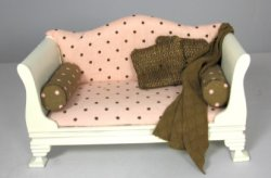 Cream, Pink and Brown Daybed